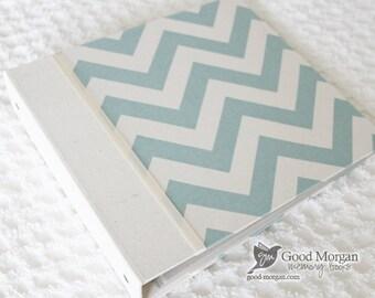 5 Year Baby Memory Book  - Chevron Blue