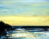 "Washington State Pacific Coast Original Oil Painting 5 x 7"" Framed"