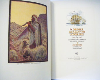 1929 First Edition More Really So Stories Hardcover Book By Elizabeth Gordon and Jane Priest Illustrated Throughout ByJohn Rae