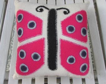 Retro Butterfly Pillow