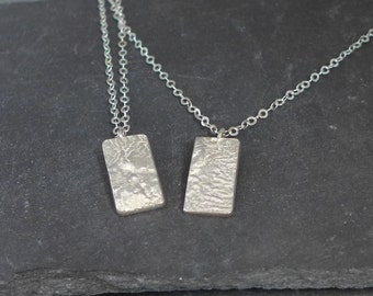 Recticulated sterling silver pendant necklace, pretty, stunning, handmade, ready to ship,  Fiona Lewis in UK