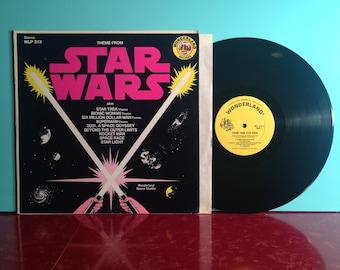 STAR WARS Theme From Star Trek 2001 Movie Soundtrack Vinyl Record Album LP 1977 Wonderland Children's Near Mint Condition Vintage