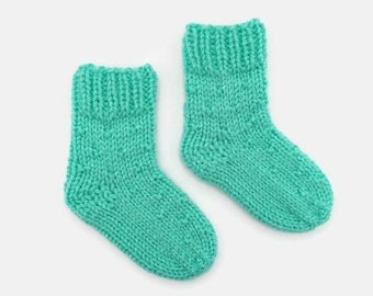 knitted baby socks | knit socks | baby girl socks | baby gift | newborn socks | mint green baby socks | baby announcement