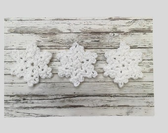 snowflake applique - crochet snowflake - christmas applique - sparkly snowflake