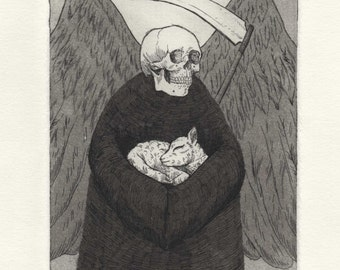 Death & Birth - Limited Edition Hand-Printed Etching Print