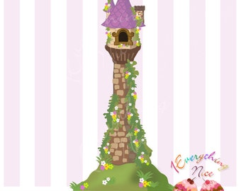 Rapunzel's Tower Tangled Clip Art