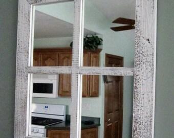 Barnwood Window Mirror 4 Panes