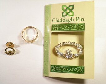 1 Claddagh Pin, Ring and Broach Set