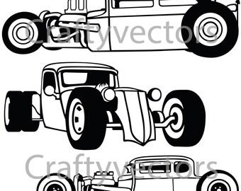 Rat Rod Cars SVG vector files