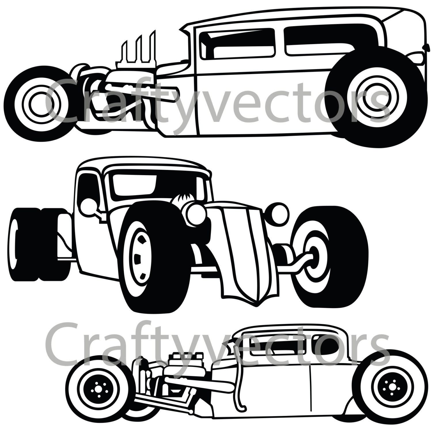 rat rod cars svg vector files