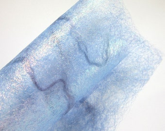Pale Blue Sparkling Craft Paper - Decorative Paper - Captured Threads in Lilac Blue