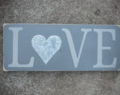 Wooden Sign- Love