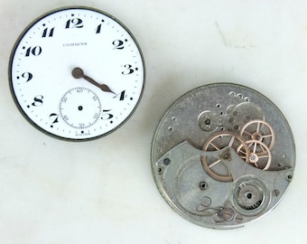 Collection of 10 Pocket Watch Movements - Dusrite, Combine, Knickerbocker, Geo P Rose, Cico