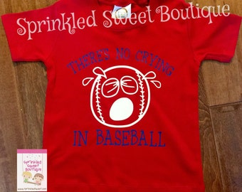 There's No Crying in Baseball Custom Baseball Shirt Boys Mem Girls Womens Custom Matching Moms Tanks shirts