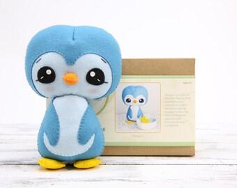 PENGUIN DIY Doll Kit // Wool Felt Doll Kit // Noialand Doll Kit // diy felt doll // Penguin Doll