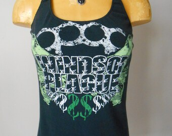 Winds of Plague halter top DIY Reconstructed Deathcore