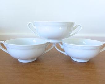 Seven Oneida by Noritake Sri Lanka bouillon cups in white porcelain