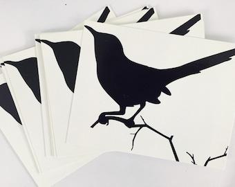 Bird Silhouette Postcards / Flat Cards (6)