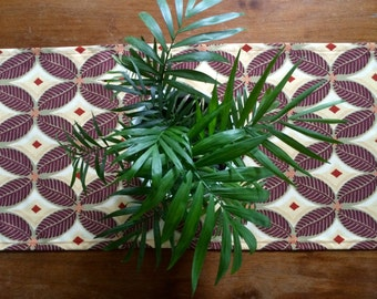 Tropical Table Runner, Botanical Boho Table Runner, Indoor/Outdoor Table Linens, Custom sizes available