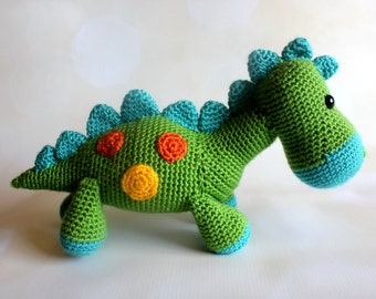 Dinosaur Stuffed Animal Toy - Crochet Dinosaur Amigurumi - Stuffed Dinosaur - Bronti - Brontosaurus - Baby Shower Gift - Baby Nursery Decor