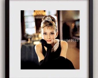 50 %OFF Today Audrey Hepburn Breakfast at Tiffanys Photo Print Celebrity Portrait Decor Wall Art