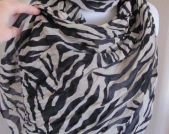 "Scarf Ladies Black Beige Oversize Soft Scarf 25"" x 70"" Long - Affordable Scarves!!!"