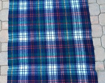 "20% Off Curvon Wool Throw Blanket Sportsrobe With Fringe Vintage Lap Blanket 42"" x 34"""