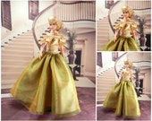 butterfly evening dress for barbie doll