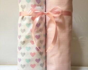 SALE Muslin Swaddle Blanket, Gauze Swaddle Blanket, Muslin Baby Blanket, Muslin Swaddle, Muslin Blanket, Gauze Blanket, Receiving Blanket