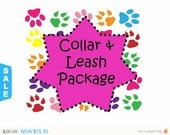 Sale - 40% Off Collar and 5 Ft Leash Package!, Dog Collar Set, Dog Leash Set