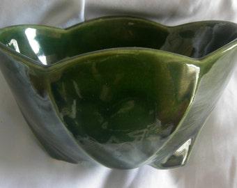 Deep Green Rectangular Planter | McCOY USA | High Glaze | Vintage 1960s