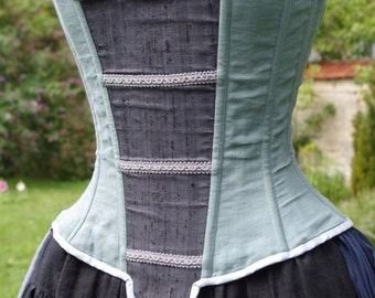 "Corset Altaiss / movie ""Chymères"" / flax and silk corset"