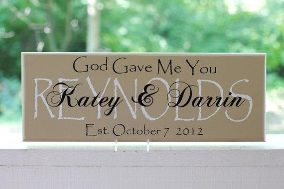Personalized Wedding Gifts. Family Last Name Wood Sign and Established Date.