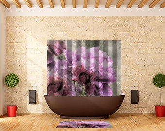 Shower Curtain Dusty Pink Rose