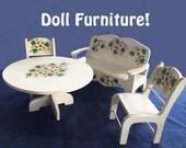 Handmade DOLL FURNITURE Set (4)