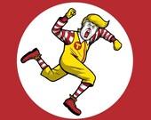 Banksy Anti Trump Stop Trump wheat paste posters Anyone But graphic art clown