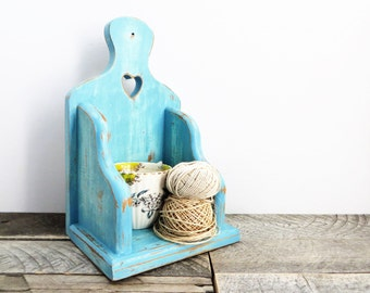 Pretty Blue Shelf - Hanging Shelf - Blue Home Decor - Modern Country Chic