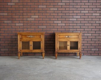 Nightstands / French Regency Nightstands / French Provincial Nightstands  Bedside Chest / Pair of Nightstands