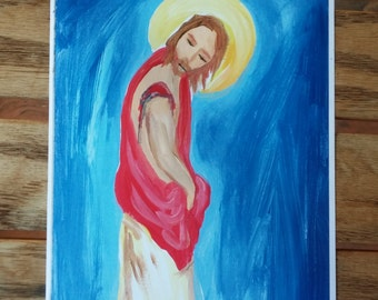 The Holy Wound From Carrying the Cross Jesus Print