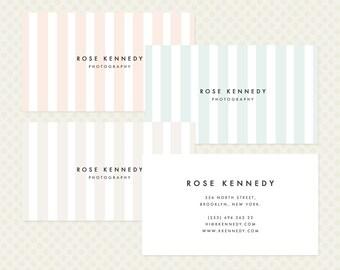 Mixed Color Business Card Design. Candy Stripe Business Card Design Elegant Modern Branding Pastel Multicoloured Multicolored Business Card
