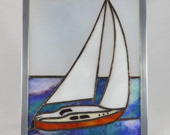 Stained Glass Sailboat