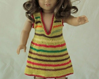 Striped Summer Dress for American Girl Doll or any other 18 inch Doll