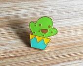 ANIMAL | Cute Happy Cactus Enamel Pin