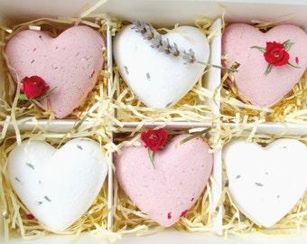 Sweetheart Bath Bomb Gift Set, Hearts Rose/Lavender