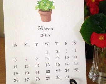 Little Desktop Calendar 2017, Desk Calendar 2017, 2017 Desk Top Calendar, Desktop Calendar for 2017, Small Calendar 2017