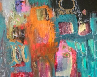 Colorful Abstract Art/Painting Urban Contemporary