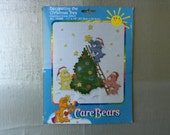 CARE BEARS Counted Cross Stitch Kit Decorating the Christmas Tree