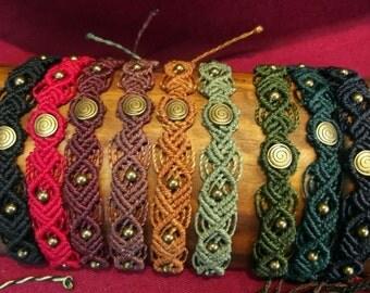 Macrame spiral bracelet of your choice