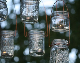 Lantern Hangers: Copper Lantern Hanger Kits, Hanger Only, Fits Any Wide Mouth Canning Jar