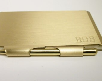 BOB Engraved Note Book,Memo Pad, Note Pad, Note Keeper, Scratch Pad gold tone